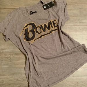 Lucky Brand Glitter Embroidered Bowie Tee